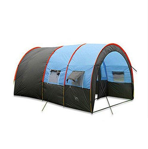 Multiplayer Zelt Outdoor-Zelt Zelt ein großes Zimmer und zwei Wohnzimmer gegen Sturm im Freien Zelt Ausrüstung