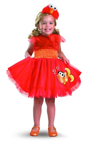 [Frilly Elmo Costume - Medium (3T-4T)] (Sesame Street Costumes For Babies)