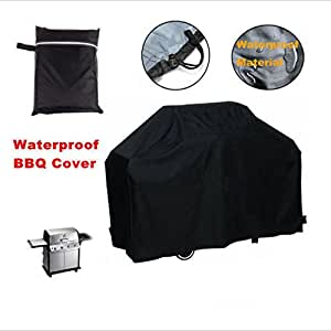 EasyTime Barbeque Gas Grill Cover Small,Waterproof Barbeque BBQ Grill Covers Thick Heavy Duty Premium BBQ Grill Cover Black 3XS(22.8*30.3 inchs)