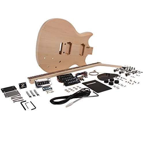 Seismic Audio – SADIYG-11 – Premium PRS Style DIY Electric Guitar Kit – Unfinished Luthier Project Kit