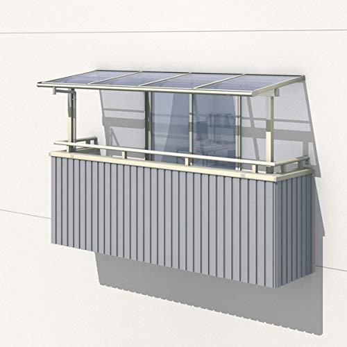 三協アルミ レボリューA 3.0間×7尺 600タイプ/関東間/2階用F型/出幅移動収まり/2連結 熱線遮断ポリカ 『テラス屋根』 ブロンズ B06XR7VF4L 本体カラー:ブロンズ