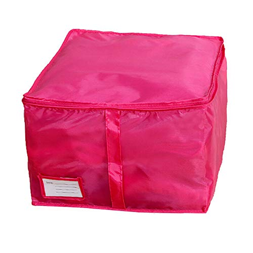 Hot Sale!DEESEE(TM)Small Size Clothing Storage Boxes Quilts Sorting Pouch Underwear Socks Organizer Bags Bins (Hot pink)]()