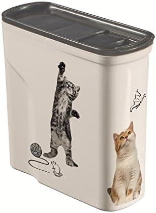 Amazon Com Curver Pet Dry Food Container Cat 2 Litre Pet Supplies