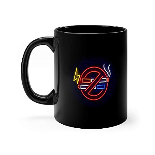 No Smoking Vape Neon Sign Bright Symbol Icon Illuminated Of And Vaping In An Unauthorized Place Stop Ban Favorite Drink Mug Ceramic Cup 11oz