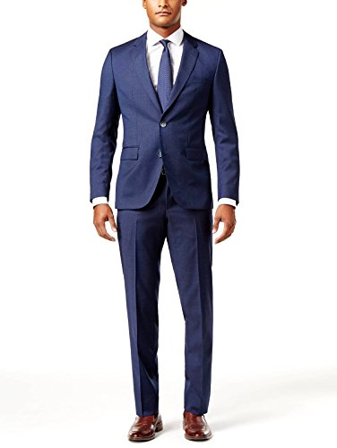 Hugo Boss 2 Button Flat Front 2 Piece Extra Slim Fit Men's Suit 100% Italian Virgin Wool C-Jeys1/C-Shaft1 50326171 430 Micro Check by Hugo (42 Regular USA Jacket/36 Waist Pants) Hugo Boss Two Button Suit