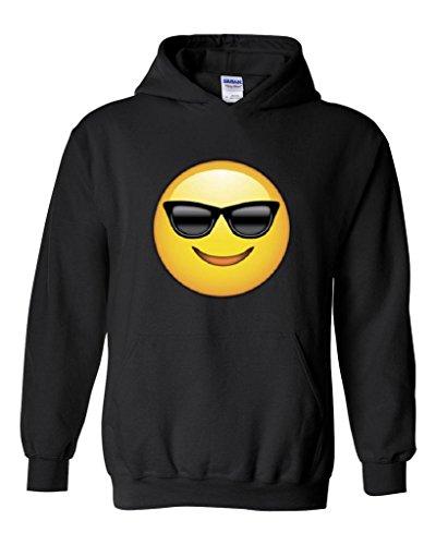Artix Emoji with Sunglasses Fashion People Couples Gifts Best Friend Gifts Unisex Hoodie Sweatshirt Medium - Sunglasses Burlington