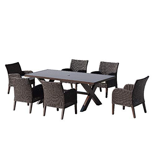 Ove Decors Majorca III 7-Piece Dining Set, Dark Brown