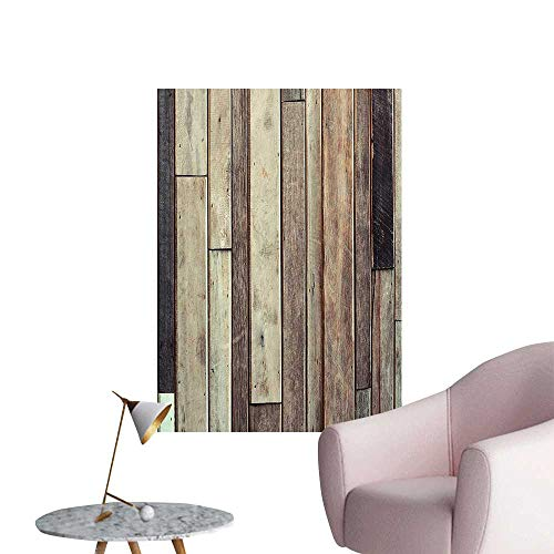 Vinyl Wall Stickers Old Planks Flooring Wall Picture American Style Western Rustic Panel Graphic Print Brown Perfectly Decorated,16