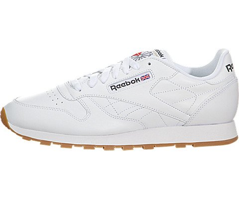 Reebok Men's Classic Leather Sneaker, White/Gum, 11.5 M US