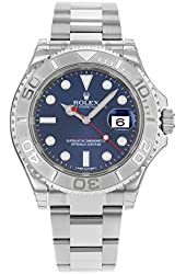 NEW Rolex Yacht Master Blue Sunray Dial, 904L Stainless Steel with Platinum Bezel Mens watch 116622 BL