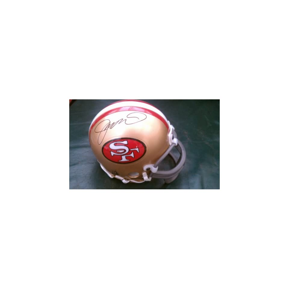 Joe Montana Signed San Francisco 49ers Mini Helmet