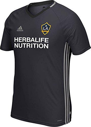 Galaxy Training Top (MLS Los Angeles Galaxy Men's Short Sleeve Training Top, Dark Grey, X-Large)