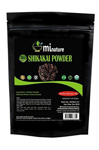 Organic Shikakai Powder by mi nature | Acacia Concinna | USDA NOP Certified 100% Organic | Vegan | Excellent Hair Conditioner (16 OZ) (Amla Shikakai Powder)