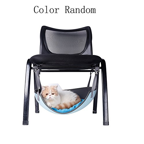 Lifeunion Pet Cat Bed Pad Hanging Hammock Under Chair Lounge Bed Cat Cage Comforter for Small Pet Under 16 Lbs