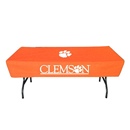 (Rivalry Distributing RIV-RV158-4600 Clemson Tigers NCAA Ultimate 6 Foot Table Cover)