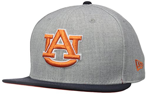 Auburn Tigers Wool (NCAA Auburn Tigers Bind Back 9Fifty Snapback Cap, Medium/Large, Gray)