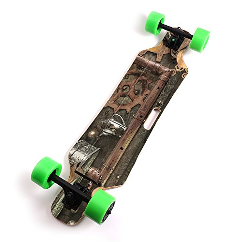 MightySkins Skin for Blitzart Huracane 38'' Electric Skateboard - Steam Punk Room | Protective, Durable, and Unique Vinyl Decal wrap Cover | Easy to Apply, Remove, and Change Styles | Made in The USA by MightySkins (Image #6)