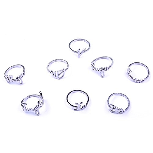 Youyouchard 8 Style BTS Album Ring BTS Stainless Steel Finger Rings Bangtan V Suga Jewelry Rings Accessories for Men Women Couple Ring Birthday Gift