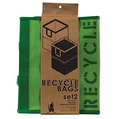 G.U.S. Reusable Recycle Bags For Home or Garden - Set of 2