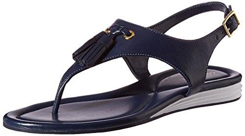 Cole Haan Womens Rona Grand Flat Sandal Marine Blue