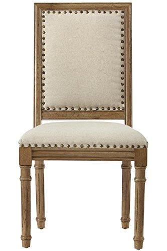 amazon com marais side chair 38 wx20 wx25 d solid ivory kitchen