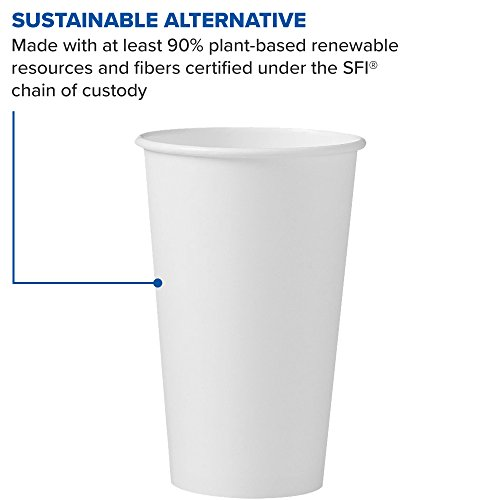 Solo 316W-2050 16 oz White SSP Paper Hot Cup (Case of 1000) by Solo Foodservice (Image #5)