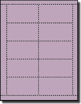 Purple Printable Sheet (200 Label Outfitters 67# Orchid Laser and InkJet Printable Business Cards, 20 Sheets)