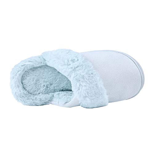 Winter Teal Beslip Home House Women's Warm Slippers Memory Slipper Fleece Soft Foam qwSwnX4H