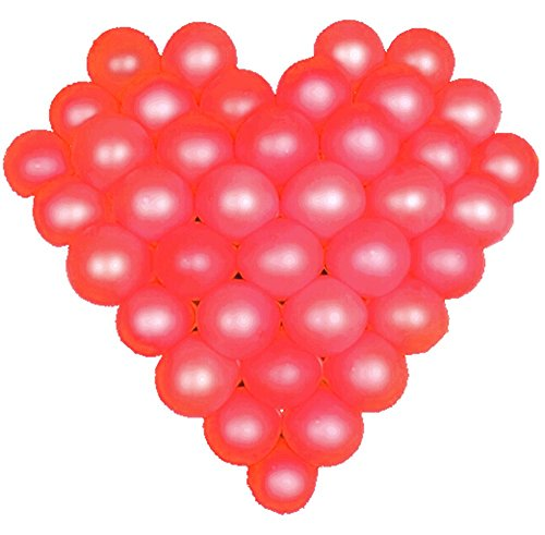 (Elecrainbow 5 Inch Red Balloons, Round Pearl Balloon for Balloon Arch Modeling, Pack of 100)