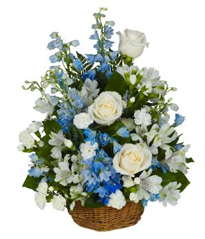 Peaceful Garden Of Blessings - Same Day Sympathy Flowers Delivery - Condolence Flowers - Funeral Flower Arrangements - Sympathy Plants - Funeral Bouquet