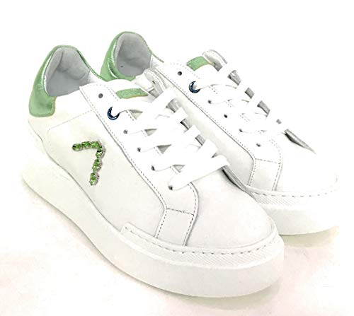 sneakers bianco In Ed Pelle Parrish Donna wP0WqxxgfH