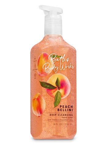 Peach Antibacterial - Bath & Body Works Peach Bellini Anti-bacterial Deep Cleansing Hand Soap, 8 Ounces