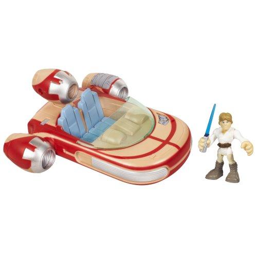 Star Wars Jedi Force Playskool Heroes Landspeeder with Luke Skywalker Set