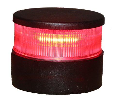 UPC 054628340048, Aqua Signal All Round Red LED Navigation Light with Black Housing