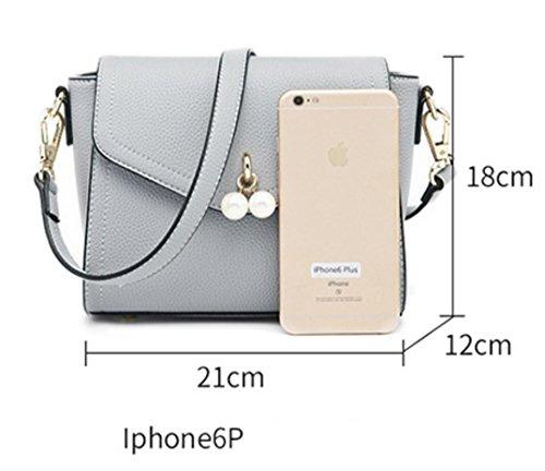 Purse Handbag Brown Small Leather amp;Girls Premium for Satchel body Shoulder Bagtopia Women 2 Cross Bag Cute PU xwAqAvTp