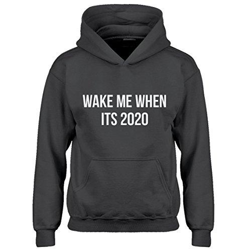 Youth Iron Patriot Hoodie (Indica Plateau Hoodie Wake Me When Its 2020 Large Charcoal Grey Kids Hoodie)
