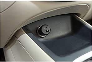 AmazonBasics - Cargador USB-C (15 W) y USB-A (12 W) para el coche