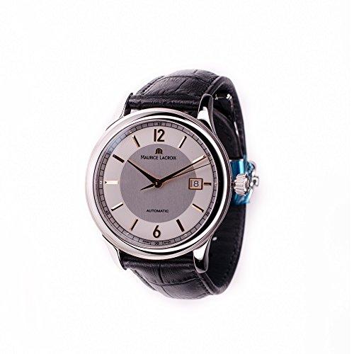 Mens Maurice Lacroix Les Classics Date Automatic Watch Silver PT6098-SS001-121-1