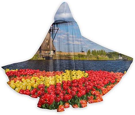 Yushg Tulipanes con Molinos de Viento holandeses Capa Elegante ...