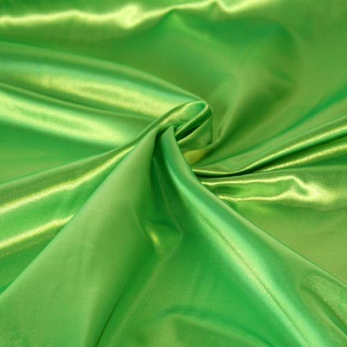 SOLID SATIN FABRIC - LIME GREEN - 60