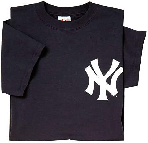 Majestic New York Yankees T-Shirt Style Jersey (Adult X-Large)