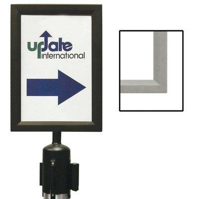 Update International RS-SF/BK Black Sign Frame for Stanchion (Retractable Belt Stanchion)
