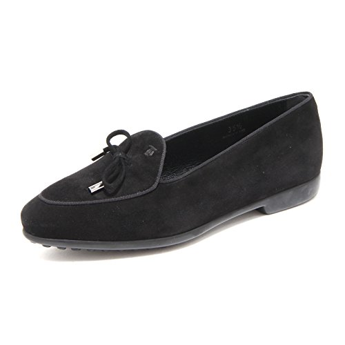 Loafer PRANCY Scarpa Mocassino Ballerina Donna Shoe Nero Laccetto Tod's 68140 wR0FcqH