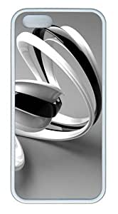 3D black and white lines with TPU White designer iphone 5 case for Apple iPhone 5/5S