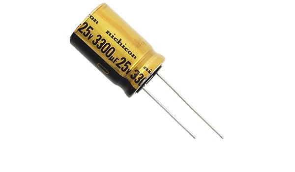 Elna 3300uf 25v Axial Electrolytic Capacitor NOS