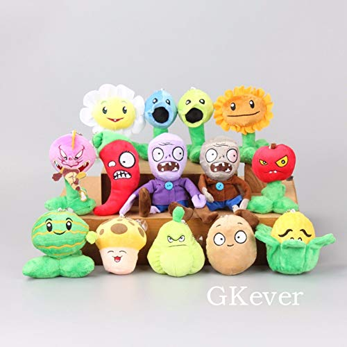Generic Collection 2019!!! Plants vs Zombies 2 PVZ Figures Plush Baby Staff Toy Stuffed Soft Doll 14 pcs