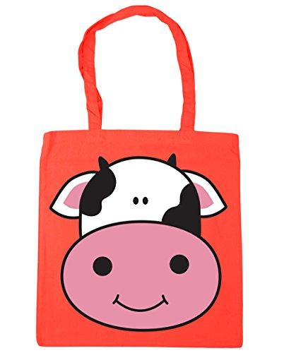 Bag HippoWarehouse Shopping 10 42cm Beach litres Cow Coral x38cm Gym Tote qZUq7