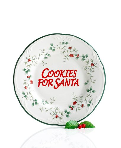 Pfaltzgraff Winterberry Cookies for Santa Plate (Collection Winterberry Tableware)
