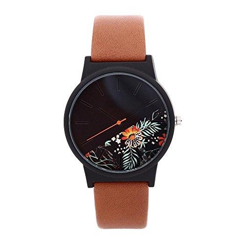 Fashion Leather Skin Strap Alloy Women's Watch Men's Watch Quartz Lovers Watches -