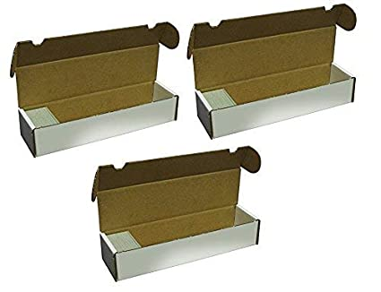 BCW 800-Count Storage Box for Standard 20pt Trading Cards | 200 lb. Test Strength | (3-Count)